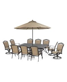 Beachmont Outdoor 11 Piece Set 84 X 60 Dining Table 6