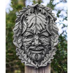 Campania International Greenman Plaque Cast Stone Garden Statue   F 259 AL