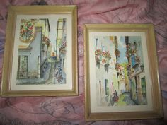 Vintage Watercolors - Mid Century - European Scene - Dream to be Somewhere Else!