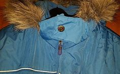 Bluezoo Debenhams Blue Padded Zip Faux Fur Hooded Coat Jacket Size 13-14 yrs