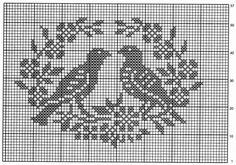 Home Decor Crochet Patterns Part 150 - Beautiful Crochet Patterns and Knitting Patterns Filet Crochet, Crochet Cross, Crochet Diagram, Crochet Motif, Crochet Doilies, Cross Stitch Bird, Cross Stitch Flowers, Cross Stitch Charts, Cross Stitch Embroidery