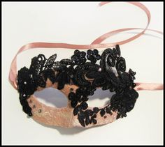 Beautiful Masquerade Lace Mask Pink Dream by RalucaElf on Etsy, $78.00