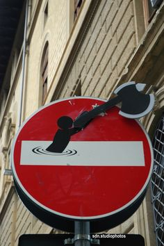 Clet Abraham, Piazza de' Davanzati, Firenze (Toscana, Italy) - by Silvana, aprile 2015 #streetart