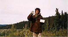 This is the last picture taken of Chris McCandless before he died.