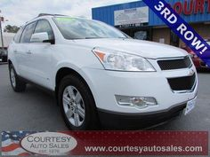 2010 Chevrolet Traverse -- 3rd ROW! -- AWD! -- Clean CAR-FAX! -- Price INCLUDES A 3 MONTH/3,000 Mile WARRANTY -- CALL TODAY! * 757-424-6404 * FINANCING AVAILABLE! -- Courtesy Auto Sales SPECIALIZES In Providing You With The BEST PRICE On A USED CAR, TRUCK or SUV! -- Get APPROVED TODAY @ courtesyautosales.com * Proudly Serving Your USED CAR NEEDS In Chesapeake, Virginia Beach, Norfolk, Portsmouth, Suffolk, Hampton Roads, Richmond, And ALL Of Virginia SINCE 1976!