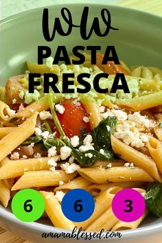 Looking for ww green plan recipes, ww blue plan recipes, ww dinner recipes, or ww purple plan recipes? This ww copycat pasta fresca recipe is one of the best ww recipes! Great for ww dinners or ww lunches, this easy ww recipe will make you smile. Success is possible with great ww meals at your fingertips like this one! #wwrecipes #ww #wwblueplan #wwgreenplan #wwpurpleplan Noodles And Company Pasta Fresca Recipe, Chicken, Meat, Recipes, Food, Essen, Meals, Ripped Recipes, Eten