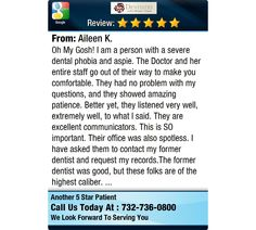 Oh My Gosh! I am a person with a severe dental phobia and aspie. The Doctor and her entire...
