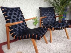 I recently refurbished these original 60's TH BROWN armchairs. Retro vintage MCM Douglas Snelling