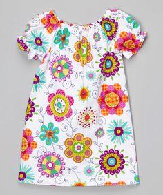 Loving this White & Purple Wildflower Dress - Infant, Toddler & Girls on #zulily! #zulilyfinds