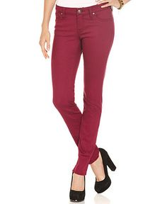 Jessica Simpson Juniors Jeans, Kiss Me Skinny Colored Wash