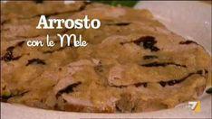 VIDEO LA7: INGREDIENTI PER 'ARROSTO CON LE MELE' 500 gr di filetto di maiale senape qb olio 2 mele renette vino bianco qb 2_N_spicchi d'aglio alloro qb fe