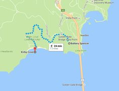 how to visit Kirby Cove San Francisco CA