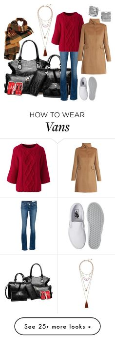 """""""Leaving on a Jet Plane"""" by pampire on Polyvore featuring Vince Camuto, rag & bone/JEAN, Lands' End, Vans, Kate Spade, MaxMara and Wilsons Leather"""