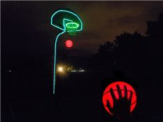 EL Wire + LED Basketball http://glowproducts.com/lightupoutdoorfun/sportsballbasket/ http://glowproducts.com/batteryoperated/elwire/ #glowsports #glowproducts #glow