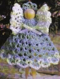 Free pattern for this sweet little crochet clothes peg Christmas angel