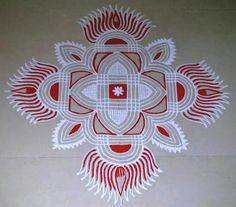 35 Best Mandala Rangoli designs to try - Wedandbeyond Indian Rangoli Designs, Simple Rangoli Designs Images, Rangoli Designs Latest, Rangoli Border Designs, Small Rangoli Design, Rangoli Patterns, Rangoli Designs With Dots, Rangoli Ideas, Kolam Rangoli