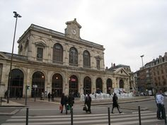 Front entrance Gare Lille Flandres, Lille, France. 2 stations in Lille. The other is Lille Europe, about 400 meters (nearly same in yards) walk away.