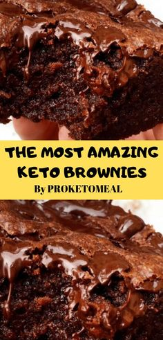 Flourless keto brownies with walnuts, only net carbs each and easy to make. Great for low carb, paleo, sugar free, and gluten free diets. Low Carb Desserts, Low Carb Recipes, Dessert Recipes, Easy Brownie Recipes, Recipes Dinner, Easy Diabetic Recipes, Recipes For One, Keto Meals Easy, Easy Keto Dessert