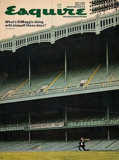 Esquire, July 1966. Art director: George Lois. See more vintage baseball magazine covers here: http://www.robertnewman.com/10-great-baseball-magazine-covers/