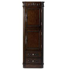 Home Decorators Collection Chelsea 20 In. W Linen Cabinet In Antique  Cherry 1590100190