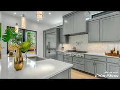اجمل اشكال مطابخ مودرن .. kitchen modern cabinets - YouTube Beautiful Kitchens, Cool Kitchens, Modern Kitchens, Kitchen And Bath, Kitchen Dining, Smart Kitchen, Kitchen Island, Dining Room, Kitchen Countertops