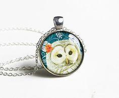 Handmade owl necklace pendant - OOAK gift idea