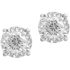 Effy Pave' Classica Diamond & 14K White Gold Stud Earrings ($1,276) ❤ liked on Polyvore featuring jewelry, earrings, white gold, 14k stud earrings, 14 karat gold diamond earrings, white gold jewelry, diamond stud earrings and 14k white gold earrings