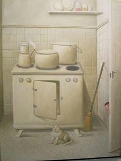F. Botero, La cocina
