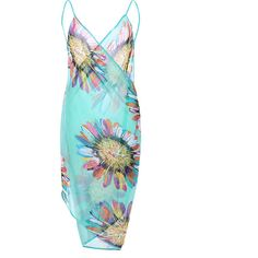Flower Printed Bathing Suits Cover Up Colorful Tops Dress Backless... ($5.19) ❤ liked on Polyvore featuring swimwear, cover-ups, swimsuits bikinis, bikini swimsuit, sexy beach cover up, sexy swimsuit cover ups and swim cover up