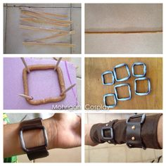How to make belt buckles with worbla 1. Cut long stripe of worbla. 2. Heat it and roll it. (Repeat this step to make it thicker) 3. Use toot...