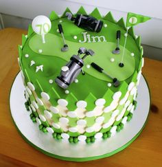 18th birthday Golf theme cake1 Artisan kitchen Golf theme and Artisan