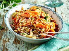 Unser beliebtes Rezept für Möhren-Quinoa-Salat und mehr als 55.000 weitere kostenlose Rezepte auf LECKER.de.