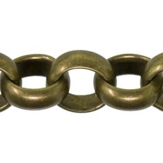 3.4mm Antique Brass Plated Base Metal Rollo Chain