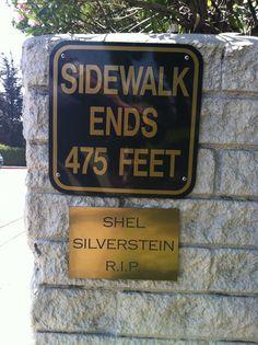 Street art tribute to Shel Silverstein