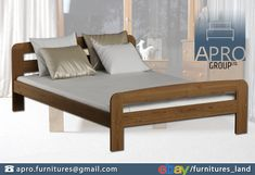 🛏 AP17 #bed #frame is made of the best quality #pine #wood and was #varnished three times with the use of eco - friendly varnish. Click for more details!  #doublebed #singlebed #furniture #bedroom Pine Wood Furniture, Wooden Bed Frames, Double Beds, Eco Friendly, Bedrooms, Couch, Times, Home Decor, Wood Beds
