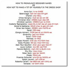 Fashion Designer Names Style Names Menu Fashion