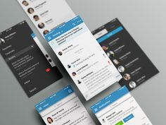Mobile Communication iPhone App by impekable