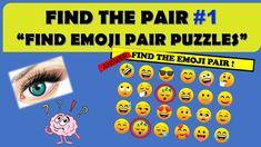 "FIND THE PAIR #1 || "" FIND EMOJI PAIR PUZZLES "" || ROCKCLIMBERS ||2020 Riddle Puzzles, Fun Quizzes, Riddles, Emoji, Pairs, The Emoji"