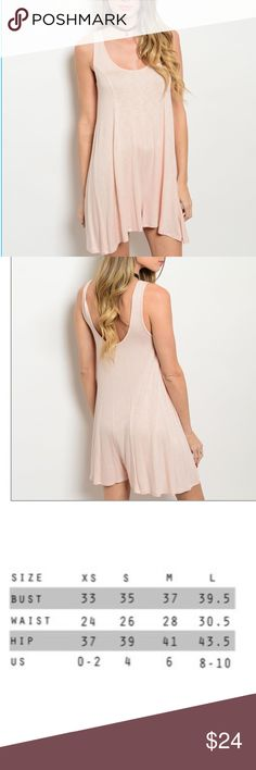 """Blush Romper This basic everyday sleeveless romper features a scooped neckline and a relaxed fit.  95% Rayon/5% Spandex Made In USA🇺🇸  Size Small: L:32"""" B:34"""" W:34""""  🚫Trades ✅Bundle and save Fresh Fashion Boutique Shorts"""