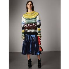 Burberry Fair Isle Cashmere Wool Sweater