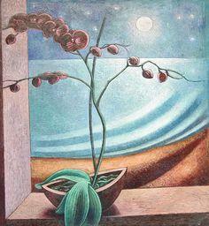 Igor Holas - Orchid, 2013, oil on canvas, 85x75cm, www.igorholas.cz