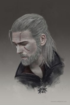 Geralt of Rivia by kidnessart