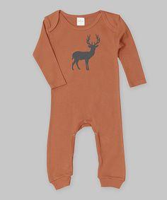 e0716d72be3d Loving this Pumpkin Deer Playsuit - Infant on  zulily!  zulilyfinds Little  People