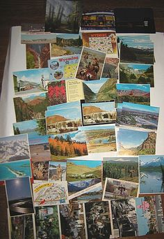 Vintage 1970's Postcard LOT- States in the USA: Wyoming, Louisiana, Calif.& more