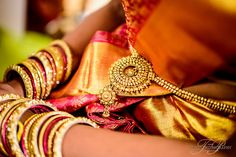 Beautiful full gold weave bordered Kanchipuram bridal saree from a Tamil Wedding