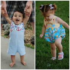 Baby Romper or Bubble Sewing Pattern  Long or Short von tiedyediva