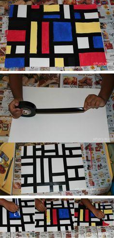 Peindre à la manière de Piet Mondrian