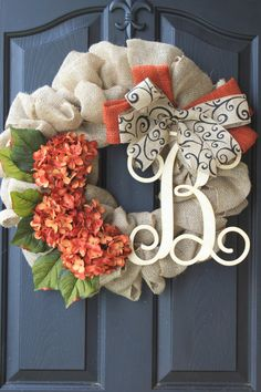 Hey, I found this really awesome Etsy listing at https://www.etsy.com/listing/162972753/fall-wreath-monogram-wreaths-for-door