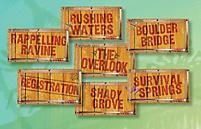 VBS 2015 Journey Off The Map Rotation Signs