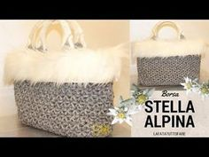 TUTORIAL: Borsa in cordino lanato Stella Alpina/ crochet bag ***lafatatuttofare**** - YouTube